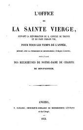 L'Office de la Sainte Vierge: pour l'usage des Religieuses de Notre-Dame de Charité du Bon-Pasteur