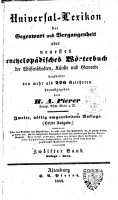 Universal Lexicon der Gegenwart und Vergangenheit  oder Neuestes W  rterbuch der Wissenschaften  K  nste und Gewerbe PDF