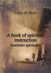 A book of spiritual instruction