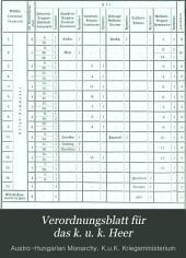 Verordnungsblatt für das k. u. k. Heer: Beiblatt, Band 4
