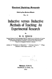 Inductive Versus Deductive Methods of Teaching: An Experimental Research