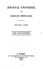 Journal universal des sciences médicales: Volume 27