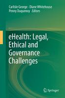 eHealth  Legal  Ethical and Governance Challenges PDF