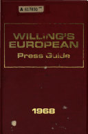 Download Willing s European Press Guide Book