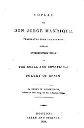 Coplas, Transl. from the Spanish ... by Henry W. Longfellow