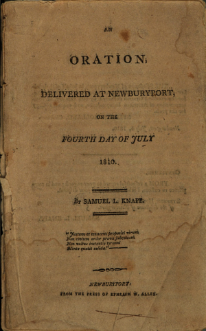 An Oration, Delivered at Newburyport, on the Fourth Day of July 1810