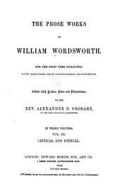 Prose Works: Volume 3