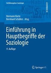 Einführung in Hauptbegriffe der Soziologie: Ausgabe 9