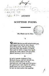 Ancient Scottish poems [by W. Dunbar. Proof copy].