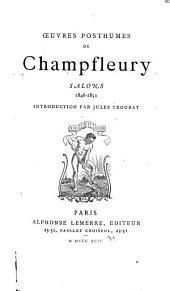 Oeuvres posthumes de Champfleury Salons 1846-1851