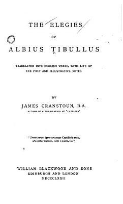 The Elegies of Albius Tibullus PDF