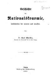 Geschichte der National  konomie  insbesondere der neueren und neuesten PDF