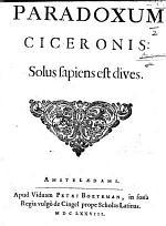 Paradoxum Ciceronis Solus Sapiens est Dives