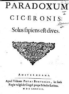 Paradoxum Ciceronis Solus Sapiens est Dives PDF