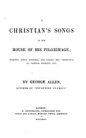 A Christian s songs in the house of his pilgrimage PDF