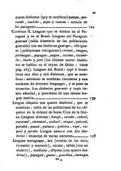 Catálogo de las lenguas de las naciones conocidas, y numeracion, division, y clases de estas segun la diversidad de sus idiomas y dialectos: Lenguas y naciones americanas (XVI, 396 p., [3] h. pleg.)