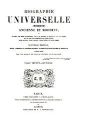 Biographie universelle (Michaud) ancienne et moderne: Volume 37