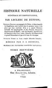 Histoire naturelle, générale et particulière: Volume2;Volume9