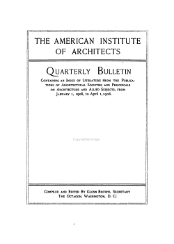 American Institute of Architects Quarterly Bulletin PDF