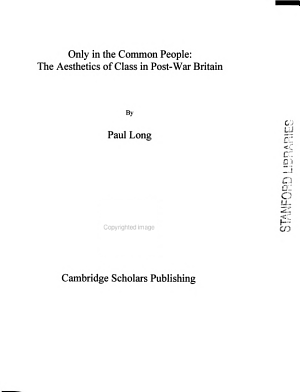 Only in the Common People PDF