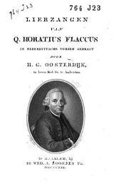 Lierzangen van Q. Horatius Flaccus