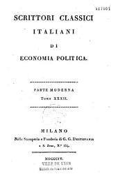 Scrittori classici italiani di economia politica: parte moderna, supplemento, indice, Volume 1