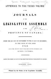 Journals of the Legislative Assembly of the Province of Canada: From the 14th Day of June .. Being the First-8th Provincial Parliament ..., Volume 4