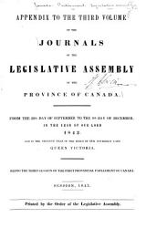 Journals Of The Legislative Assembly Of The Province Of Canada Book PDF