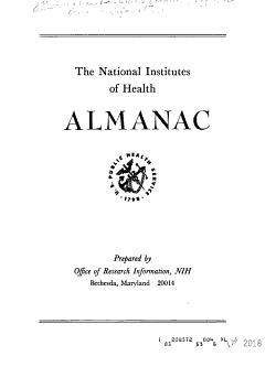 Almanac  National Institutes of Health  U S     1965 PDF