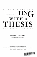 Writing with a thesis PDF