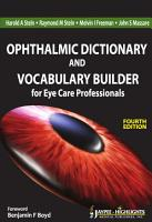 Ophthalmic Dictionary and Vocabulary Builder for Eye Care Professionals PDF