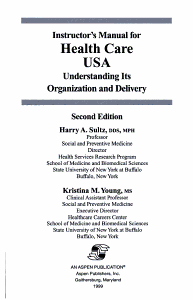 Instructor s Manual for Health Care USA PDF