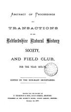 Abstract of Proceedings and Transactions of the Bedfordshire Natural History Society  and Field Club PDF