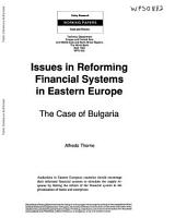 Issues in Reforming Financial Systems in Eastern Europe PDF
