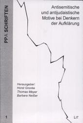 Antisemitische und antijudaistische Motive bei Denkern der Aufklärung: Susanne Miller zum 85. Geburtstag