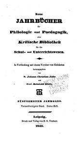 Neue Jahrbücher für Philologie und Paedagogik: Band 44