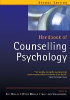 Handbook of Counselling Psychology PDF