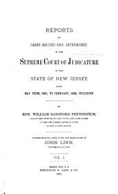 Reports of Cases Determined in the Supreme Court of Judicature of the State of New Jersey: Volume 2