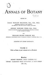 Annals of Botany: Volume 2