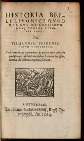 Historia belli Livonici 1558