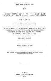 The Southwestern Reporter: Volume 13