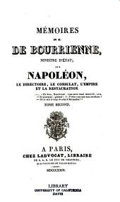 Memoires de M. de Bourrienne, ministre d'etat: Volume2
