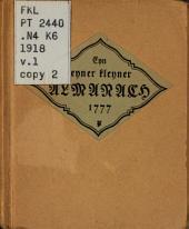 Eyn feyner kleyner Almanach vol schönerr echterr liblicherr Volckslieder: lustigerr Reyen vnndt kleglicherr Mordgeschichte, Band 1