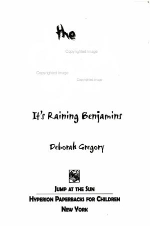 It Raining Benjamins PDF