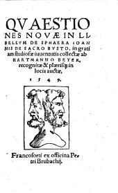 Quaestiones novae in libellum de sphaera Ioannis de Sacro Busto