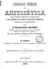 Ejercicios teóricos de aritmética...