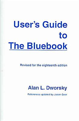 User s Guide to the Bluebook PDF