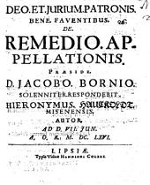 De remedio appellationis