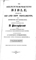 The Self Interpreting Bible     By the Late Revd John Brown  Etc PDF