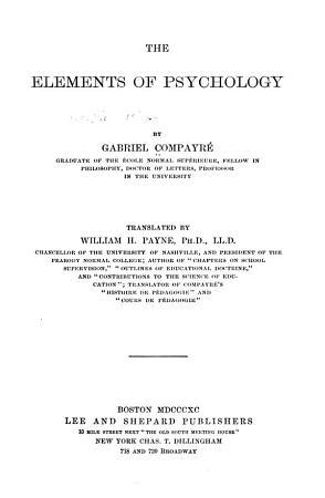The Elements of Psychology PDF